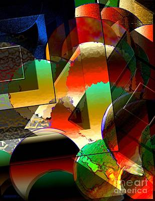 Geometric Art Digital Art - Transparency Shapes And Color Art by Mario Perez