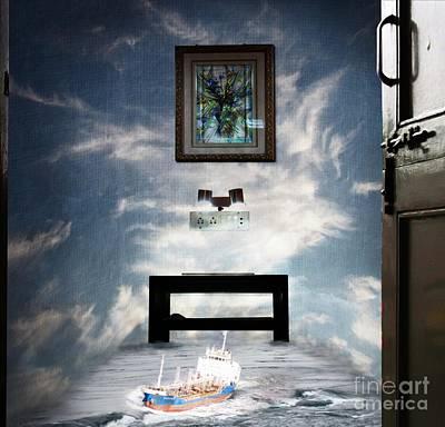 Surreal Living Room Print by Laxmikant Chaware