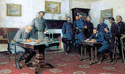 E Painting - Surrender At Appomattox by Tom Lovell