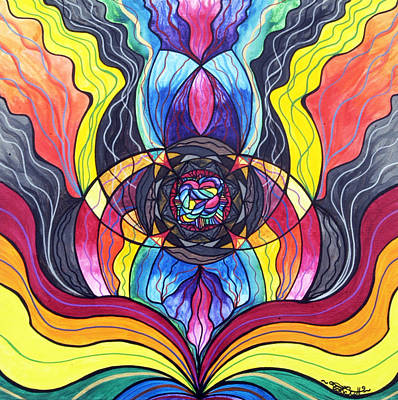 Vibrational Frequency Painting - Surrender by Teal Eye  Print Store