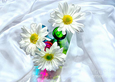 White Daisy Photograph - Surrounded In Love by Krissy Katsimbras