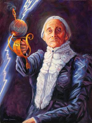 Thunderbolt Painting - Susan B. Anthony by Steve Simon