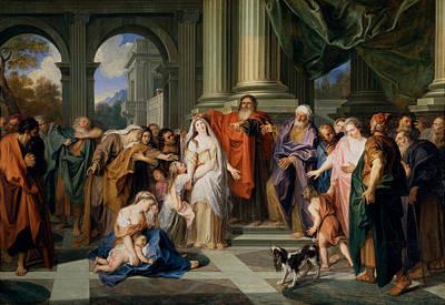 Susannah Accused Of Adultery Print by Antoine Coypel