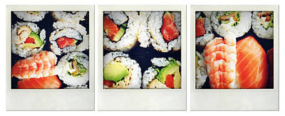 Salmon Photograph - Sushi by Les Cunliffe