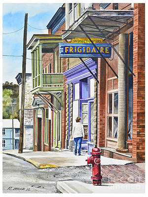 Over Hang Painting - Susie In Shawnee by Rick Mock
