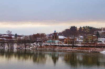 Susquehanna River At Pittston Pa Print by Bill Cannon