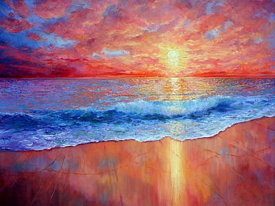 Susurrus At Sunset Print by Marie Green