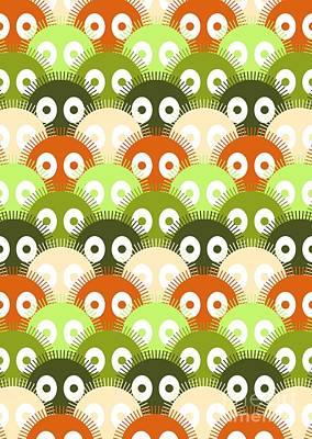 Anime Digital Art - Susuwatari Pattern Color by Freshinkstain