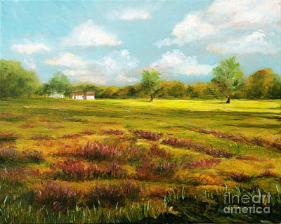 Sutton Painting - Sutton Road Farm by Cindy Roesinger