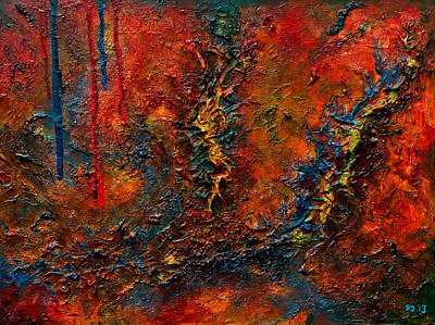 Drips Painting - Sutures by Sourav Bose