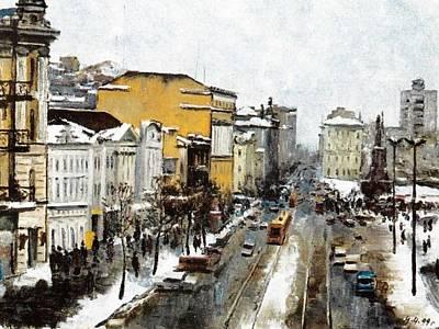 Svetlanskaya Street Vladivostok Print by Jake Hartz