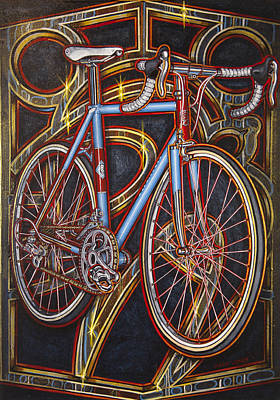 Painting - Swallow Bespoke Bicycle by Mark Howard Jones