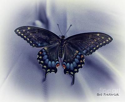Swallowtail Crashes Bar-b-q Print by Robert Frederick