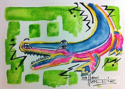 Painting - Swamp People Alligator by Gayla Abel Hollis