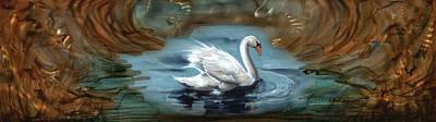 Swan Illusion Original by Luis  Navarro
