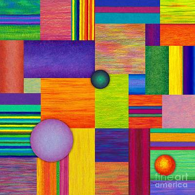 Abstract Montage Painting - Swatches by David K Small