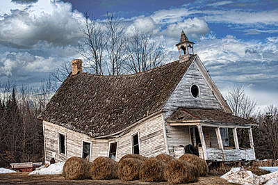 Old School House Photograph - Sway Back School House by Paul Freidlund