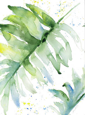 Palm Fronds Painting - Swaying Palm Fronds I by Lanie Loreth
