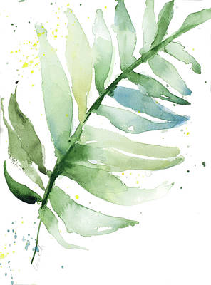 Palm Frond Painting - Swaying Palm Fronds II by Lanie Loreth