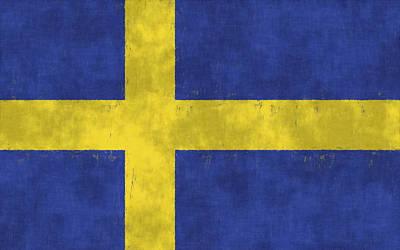 Stockholm Digital Art - Sweden Flag by World Art Prints And Designs