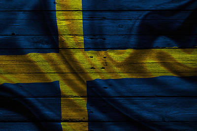 Flag Photograph - Sweden by Joe Hamilton