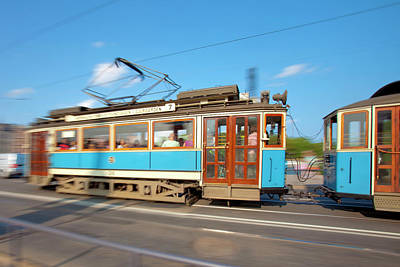 Sweden, Stockholm - Classical Old Tram Print by Panoramic Images
