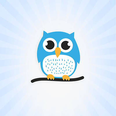 Sweet And Cute Owl Print by Philipp Rietz
