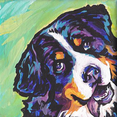 Dog Portrait Painting - Sweet Berner by Lea S
