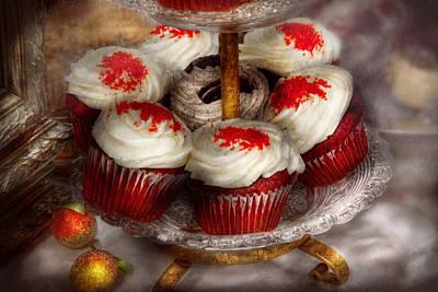 Sweet - Cupcake - Red Velvet Cupcakes  Print by Mike Savad