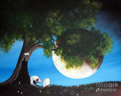 Fantasy Tree Art Painting - Sweet Dreams By Shawna Erback by Shawna Erback