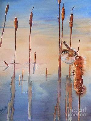 Wren Painting - Sweet Dreams by Patricia Pushaw