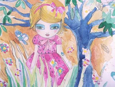 Little Girl Painting - Sweet Heart by Cris Pires