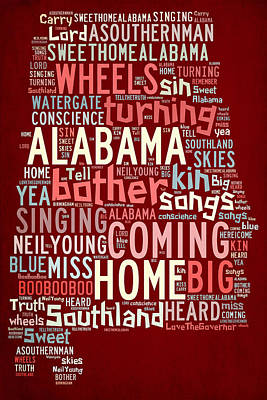 Neil Young Digital Art - Sweet Home Alabama 4 by Paulette B Wright