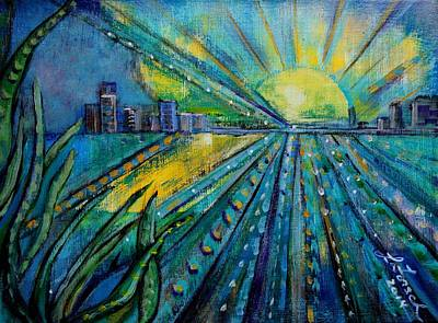 Miami Skyline Painting - Sweet Home Miami by Susi LaForsch