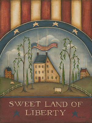 Inspirational Painting - Sweet Land Of Liberty by Kim Lewis