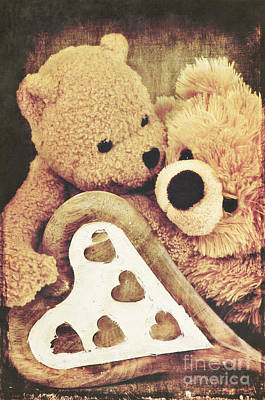 Teddy Bear Mixed Media - Sweet Love... by Angela Doelling AD DESIGN Photo and PhotoArt