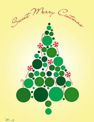 Sweet Merry Christmas Print by Mark Ashkenazi