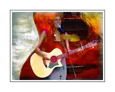 Songstress Digital Art - Sweet Music by Alice Gipson