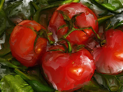 Tomato Mixed Media - Sweet N  Sassy by Tom Druin
