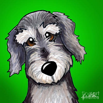 Schnauzer Art Digital Art - Sweet Olivia by Kim Niles