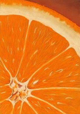 Sweet Orange Print by Anastasiya Malakhova