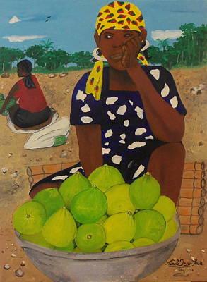 Jacmel Painting - Sweet Oranges by Nicole Jean-Louis