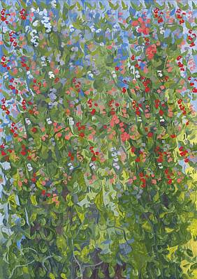 Sweet Peas Print by Leigh Glover