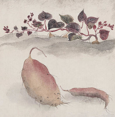 Potato Digital Art - Sweet Potato by Aged Pixel