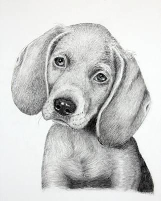 Sweet Puppy Love Print by Lorraine Foster