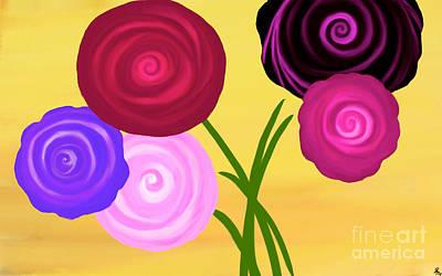 Artrage Painting - Sweet Swirls by Anita Lewis