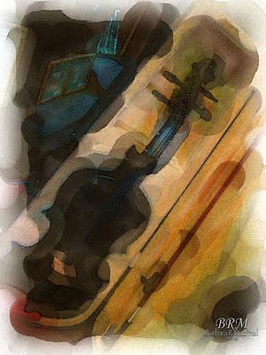 Sweet Violin Print by Barbara R MacPhail