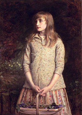 Gathering Photograph - Sweetest Eyes That Were Ever Seen..., 1881 Oil On Canvas by Sir John Everett Millais