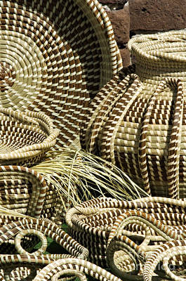 Hand Crafted Photograph - Sweetgrass Baskets - D002362 by Daniel Dempster