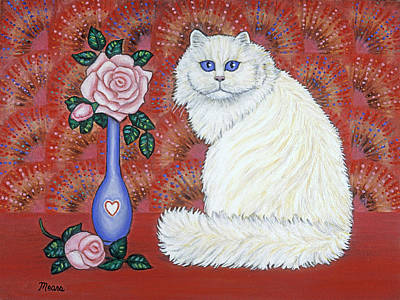 Sweetheart Cat Print by Linda Mears